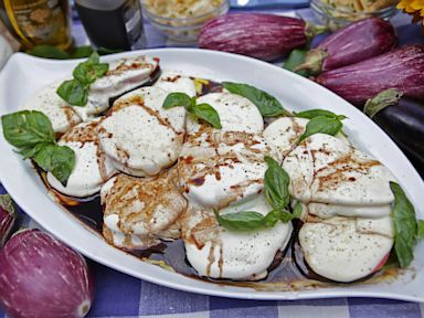 PHOTO: Grilled eggplant with mozzarella salad