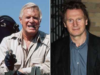 George Peppard As Hannibal And Liam Neeson Who Is Reprising The Role