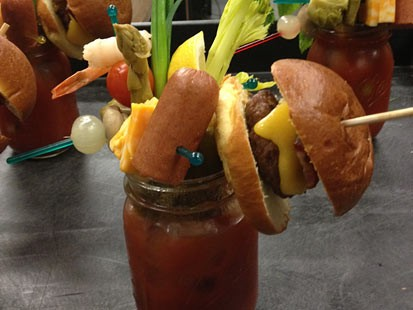Sobelman's cheeseburger bloody mary is shown here.