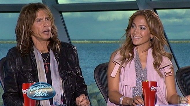 VIDEO: Jennifer Lopez and Steven Tyler take their places on the judges' panel.