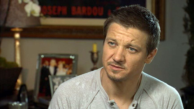 "PHOTO: Actor Jeremy Renner talks with ""Nightline"" about taking on the lead role in the upcoming film, ""The Bourne Legacy."""