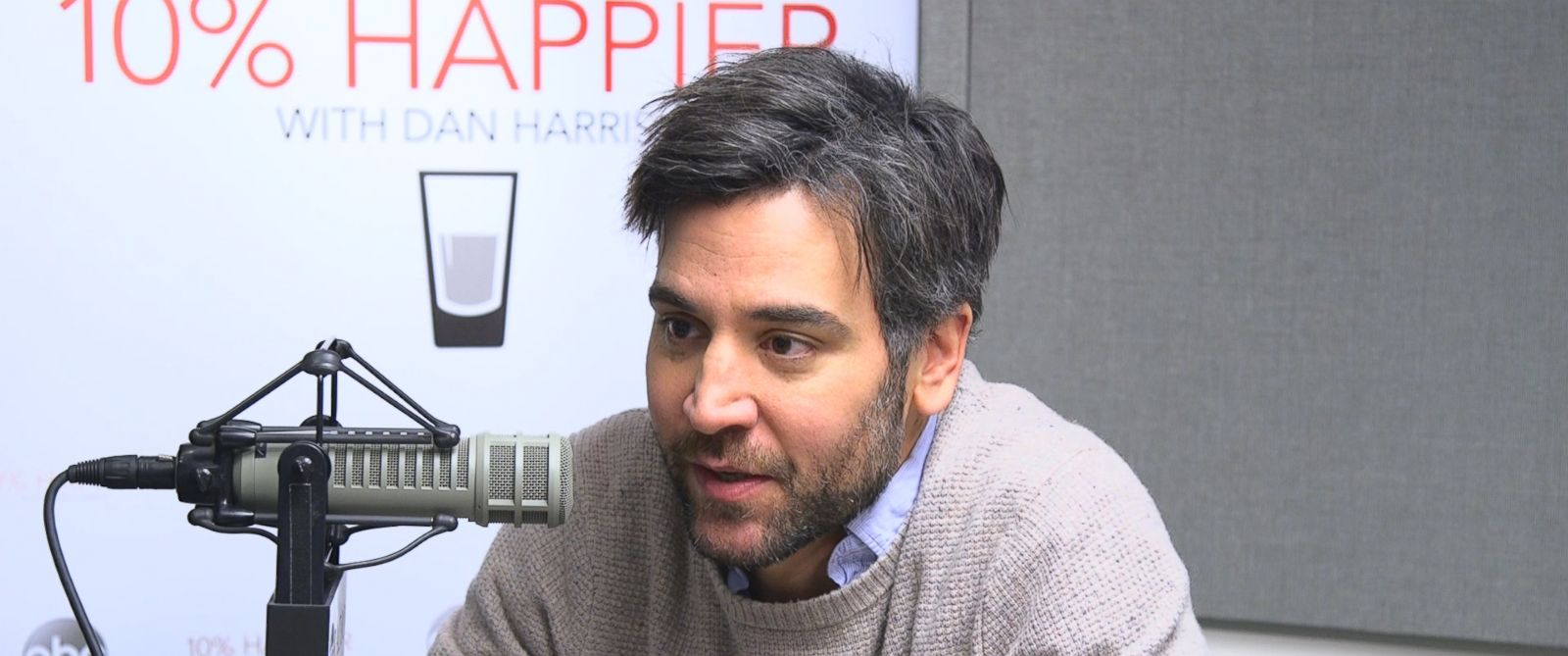 """Actor, writer and director Josh Radnor appears in an interview for """"10% Happier"""" with ABCs Dan Harris."""