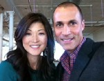 "PHOTO: Nigel Barker, one of the worlds top fashion photographers, shows ABCs Juju Chang how to take a great ""selfie"" with the camera on her iPhone."