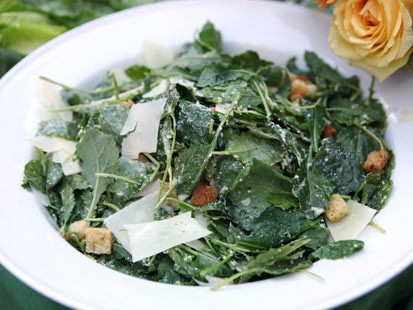 Rachael Ray's kale Caesar salad is shown here.