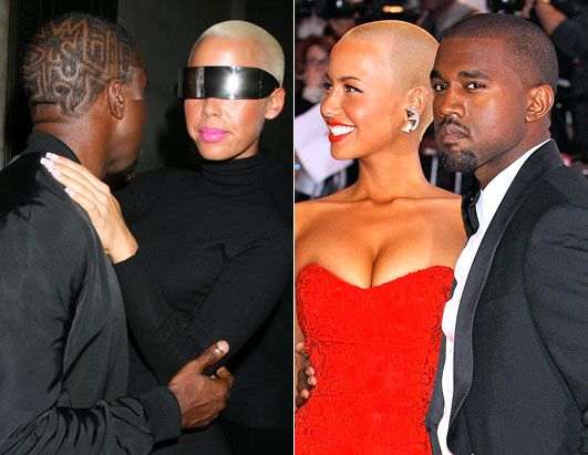 Kanye West defined his look once again with a wacky hairstyle in New York