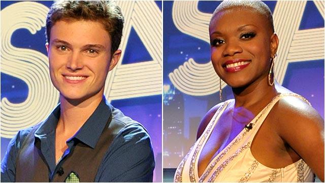 PHOTO:Creigh Riepe, left and Shantel Norman, right, the East regions semi-finalists.