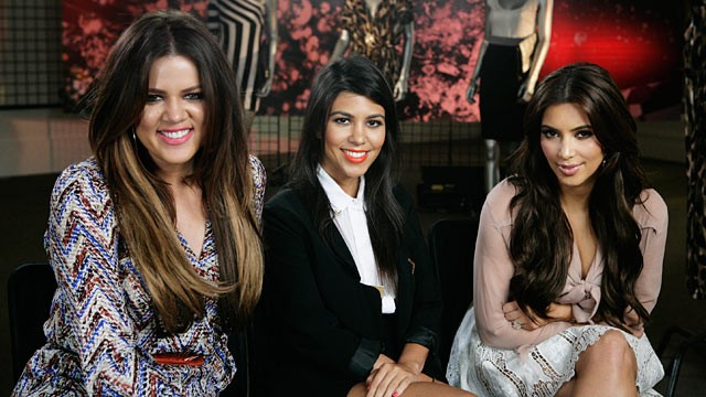 "PHOTO: Kim, Khloe and Kourtney Kardashian are being interviewed by ""Good Morning America's"" Lara Spencer."