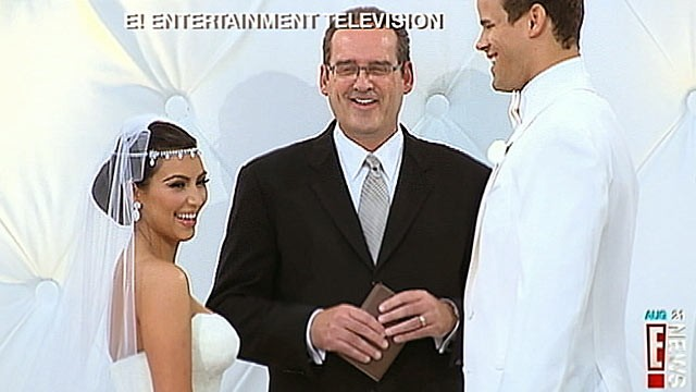 PHOTO: Kim Kardashian and Kris Humphries are shown during their wedding ceremony, Aug. 20, 2011, in Montecito, Calif.