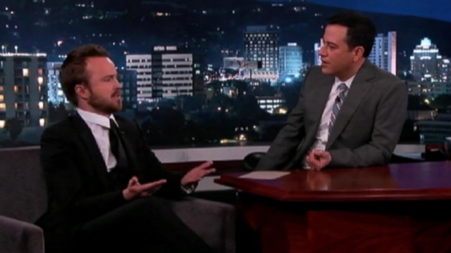"""Breaking Bad"" actor tells Jimmy Kimmel about his weekend at the Prince of Bruneis birthday party."