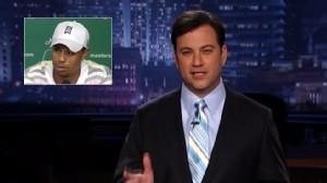 Video: Jimmy Kimmel jokes about the Tiger Woods press conference.