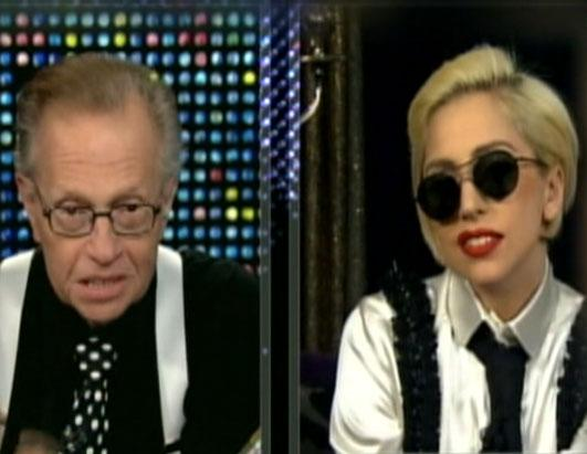 Lady Gaga as Larry King