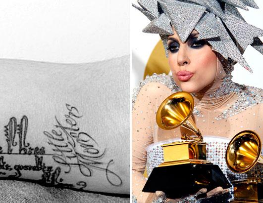 lady gagas tattoo. Celeb Tattoo Lady Gaga