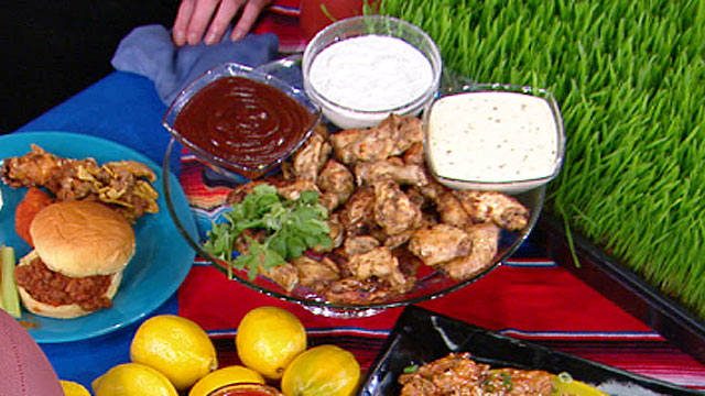 PHOTO: Emeril Lagasse's Oven-Roasted Chicken Wings are shown.