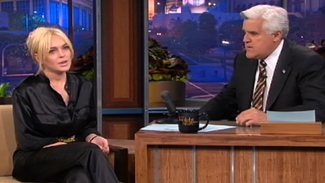PHOTO:Lindsay Lohan on The Tonight Show
