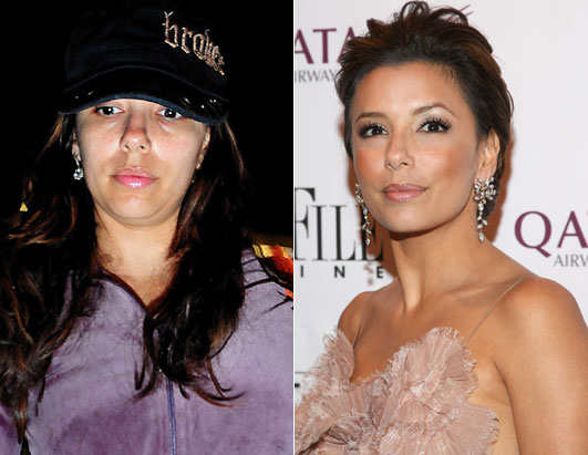 Eva Longoria landed in Washington DC on her midnight flight with no makeup.