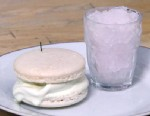 PHOTO: Nightline Platelist chef Jerome Chang shares his recipe for making a lemon-basil-lavender granita with a honey rosemary ice cream macaroon sandwich.