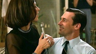 """PHOTO: The fifth season of """"Mad Men"""" kicked off with a birthday party for Don Draper (Jon Hamm), shown right."""
