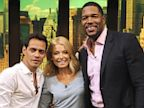 PHOTO: Mark Anthony poses with Kelly Ripa and Michael Strahan after the filming of LIVE with Kelly and Michael on Jily 18, 2013.