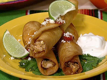 Spicy Chicken Flautas With Lime Sour Cream Recipes — Dishmaps