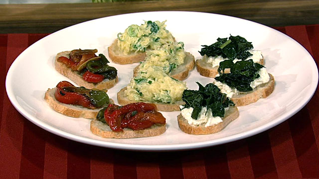 PHOTO: Mario Batali's roasted peppers and capers crostini