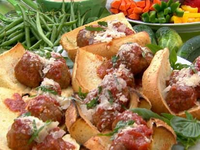 Gail Simmons' meatball sandwiches are shown here.