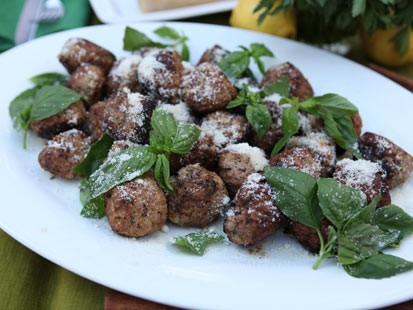 Michael Symon's ricotta meatball recipe is shown here.