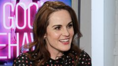"PHOTO: Michelle Dockery is intervied by Peter Travers on ""Popcorn."""