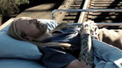 """PHOTO: A shot from the edited scene """"Midnight Rider"""" filmmakers put together after the horrific train accident that killed crewmember Sarah Jones."""