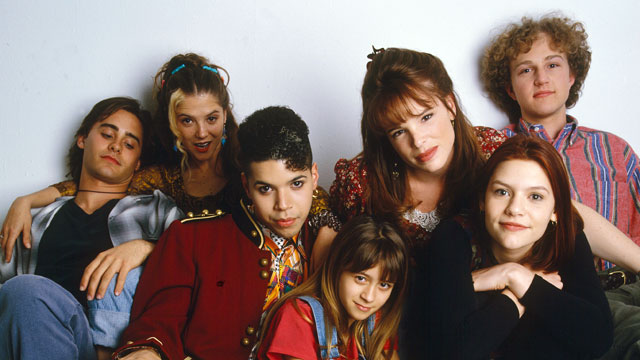 PHOTO: Claire Danes (second from right) played Angela Chase, a 15-year-old who wanted to break out of the mold as a strait-laced teen-ager and straight-A student.