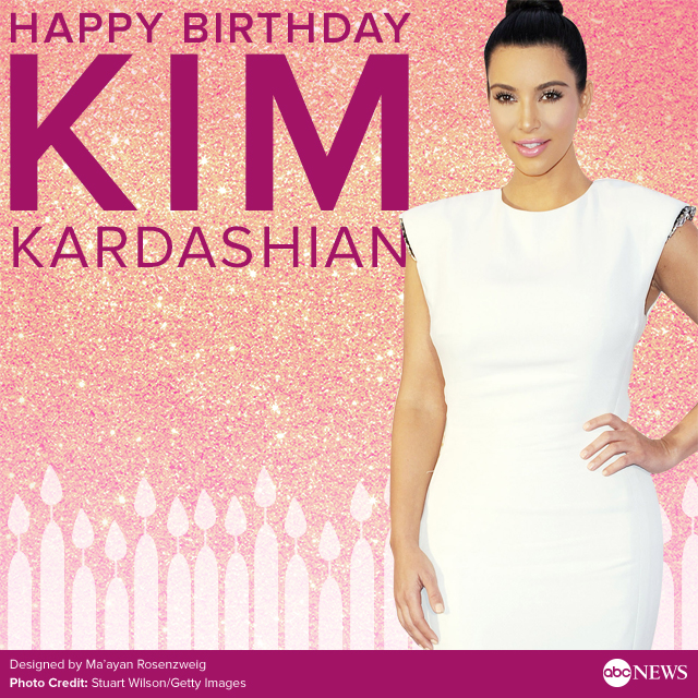 wish kim kardashian a happy birthday  abc news, Birthday card