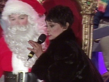 Eartha Kitt and Santa Claus