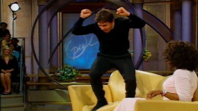 Tom Cruise Couch Jumping For Katie Holmes Video ABC News