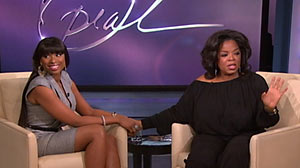 "PHOTO An emotional Jennifer Hudson spoke out on ""The Oprah Winfrey Show"" Feb, 10, 2011 about the family tragedy."
