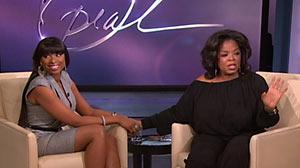 "PHOTO An emotional Jennifer Hudson spoke out on ""The Oprah Winfrey Show"" Feb, 10, 2011 about the family tragedy."