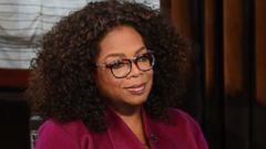 "PHOTO: Oprah Winfrey sat down with ""Good Morning America"" anchor Robin Roberts to discuss her new film, ""Selma."""