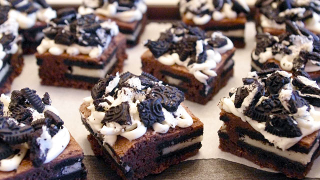 PHOTO: Lauren Torrisi's Oreo cheesecake brownies are shown here.