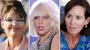PHOTO Former Gov. Sarah Palin, Lady Gaga, and Jenny Sanford are shown in these file photos.