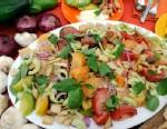 PHOTO: Mario Batalis panzanella salad is shown here.