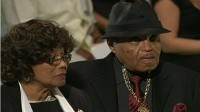 Michael Jackson's parents, Katherine and Joe Jackson, at funeral