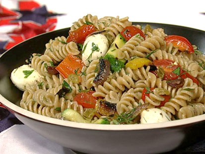 Daphne Oz's perfect pot luck pasta salad is shown here.