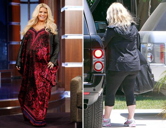 Jessica Simpson Hits The Gym