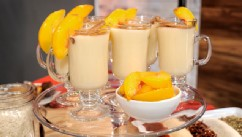 PHOTO: Sunny Andersons peach horchata recipe is shown here.