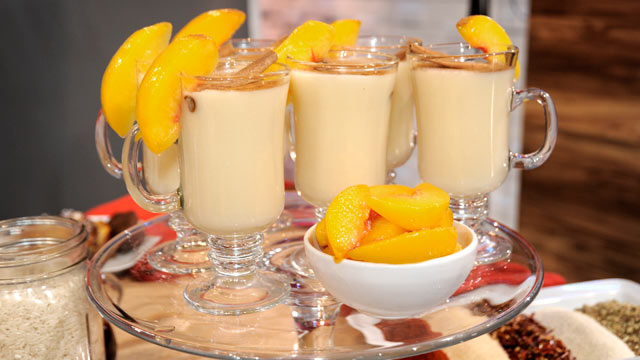 PHOTO: Sunny Anderson's peach horchata recipe is shown here.