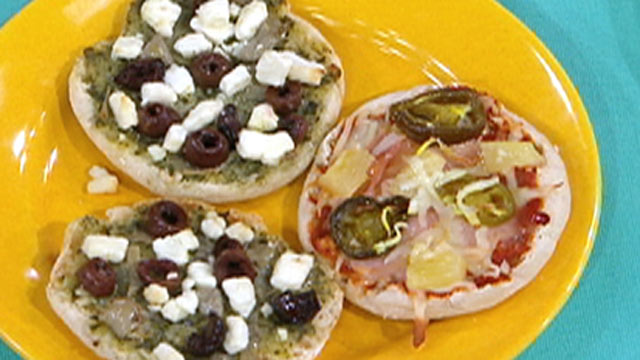 PHOTO: Matt Goulding's Mini Pesto Goat Cheese Pizzas are shown here.