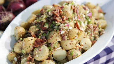 PHOTO: John Currence's smoked german new potato salad is shown here.
