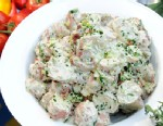 PHOTO: Food and Wines potato salad with bacon and barbecue sauce.