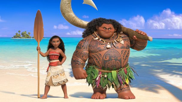 PHOTO: Walt Disney Animation Studios' upcoming big-screen adventure, a spirited teenager named Moana, left, sails out on a daring mission to prove herself a master wayfinder in