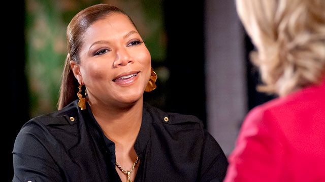"PHOTO: Queen Latifah sat down with ""Good Morning America"" anchor Lara Spencer to discuss her latest film ""Joyful Noise."""