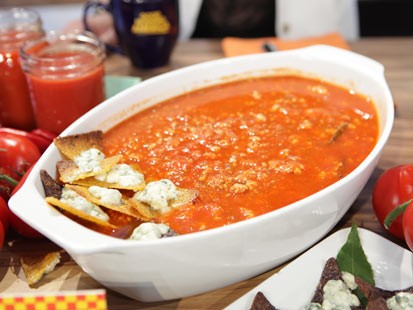 Rachael Ray's Buffalo Chicken Chili is seen here on Good Morning America.