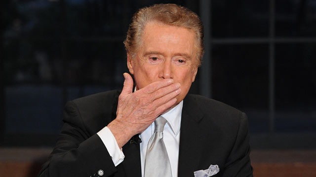 "PHOTO: Regis Philbin signs off ""Live!"" after 28 years."